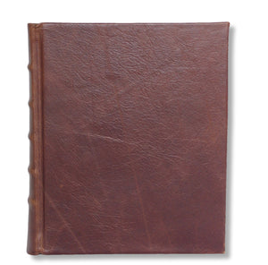 Leather photo album in brown