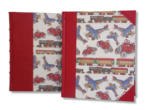Red Leather baby photo album in 2 sizes