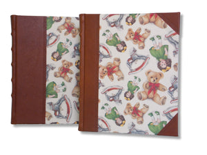 Leather bound photo albums in teddies and dolls design - 2 sizes available