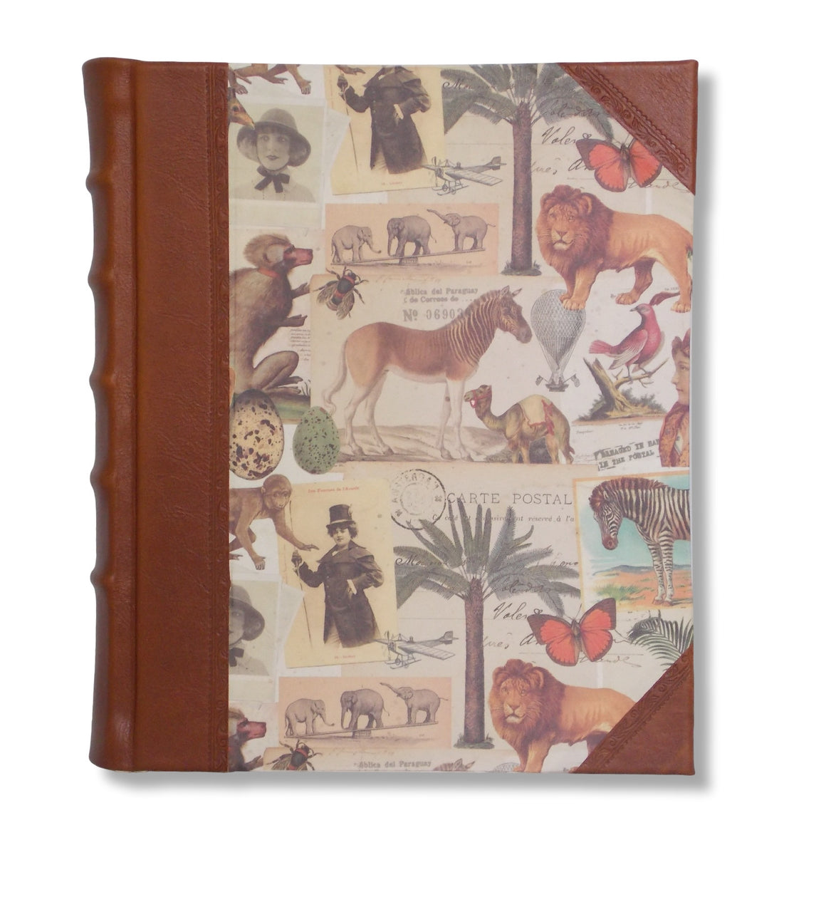 Safari design leather photo album
