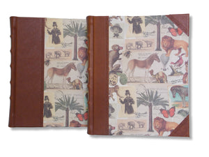 Safari design leather photo album available in two sizes