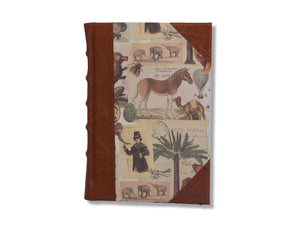 Half Leather Journal - Safari Design