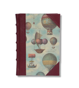 Hot- Air Balloons Half Leather Journal