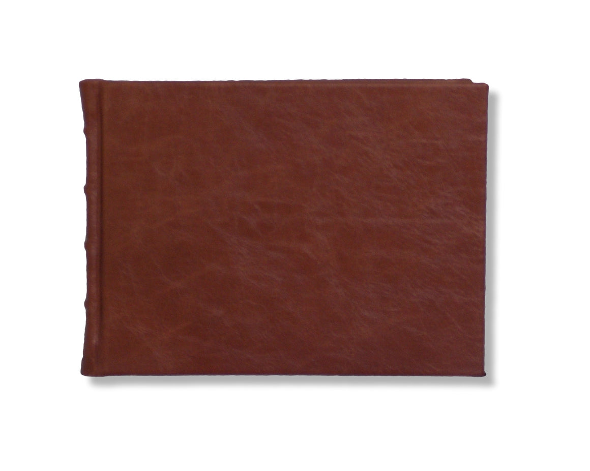 Full Leather Signature Book- Chestnut