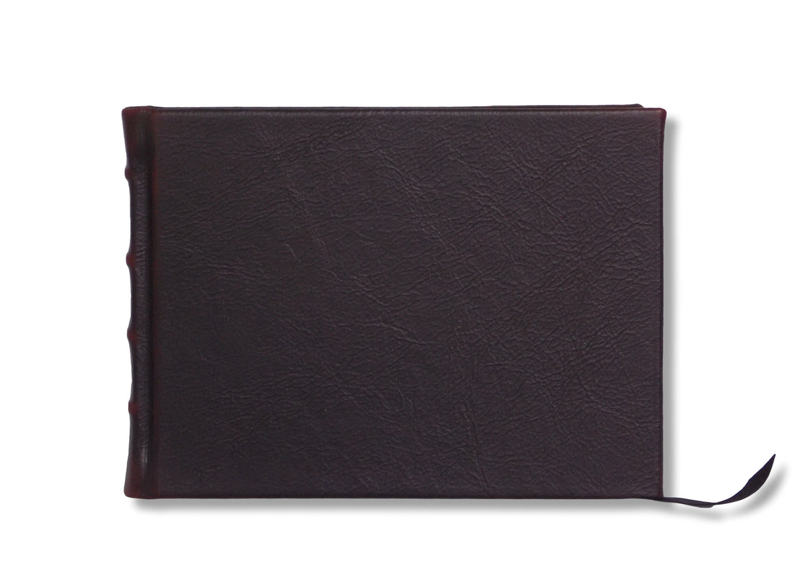 Full Leather Signature Book- Chocolate