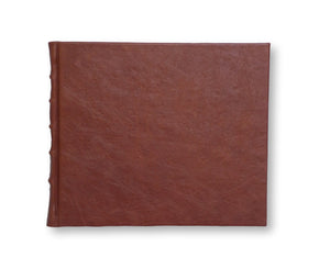 Large Leather Guest Book - Printed Pages