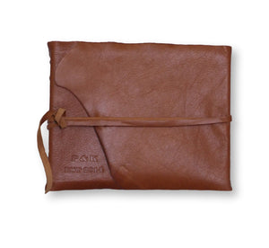 Leather Wrap Signature Book- Chestnut