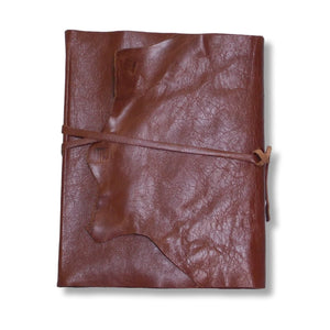 Leather wrap photo album in chestnut