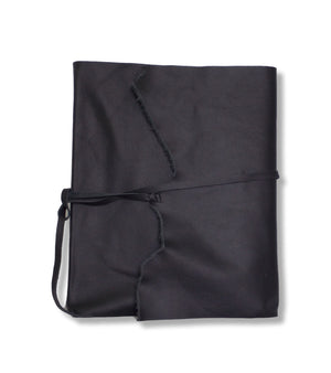 Black leather wrap style photo album