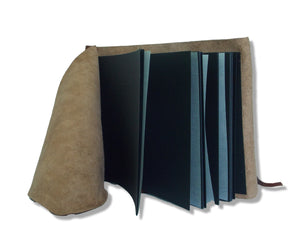 Black photo album pages with interleaving tissue