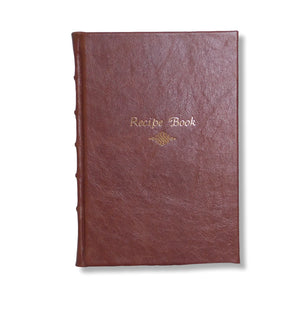 Leather recipe book - chestnut brown