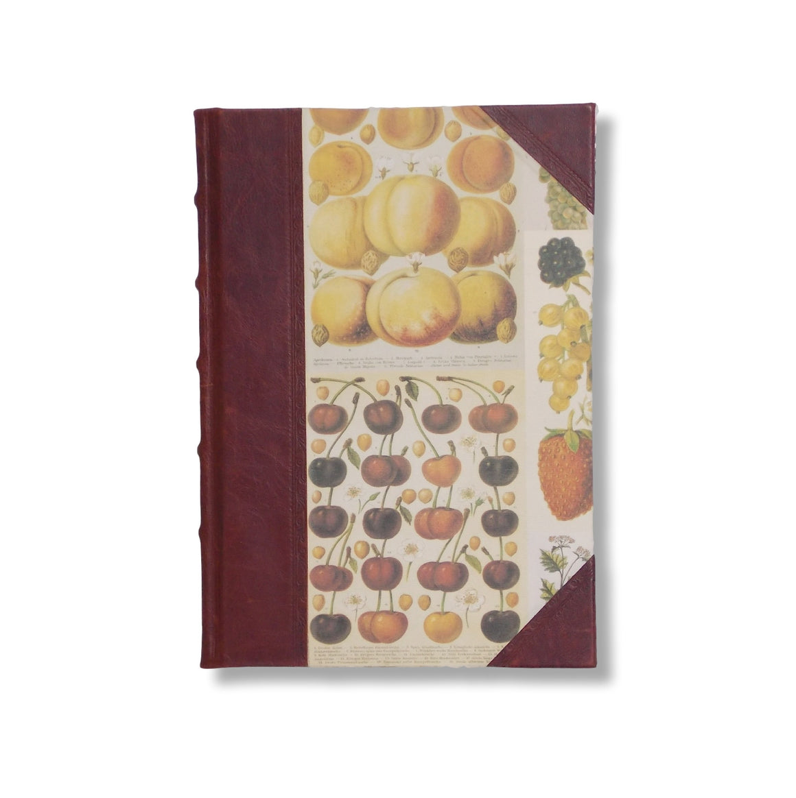 Recipe book with decorative paper sides