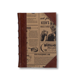 Leather journal with newsprint sides