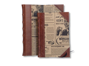 Half leather journal in 2 sizes