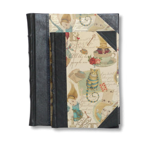 Half Leather Journal - Alice in Wonderland