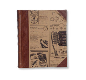 News print leather portrait album