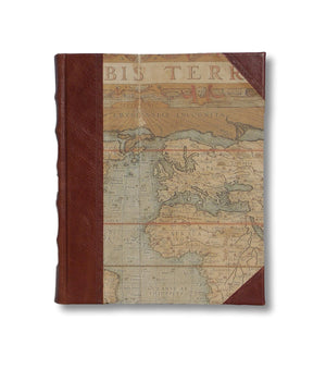 Leather world map design photo album