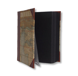 Photo album with black pages - world map design