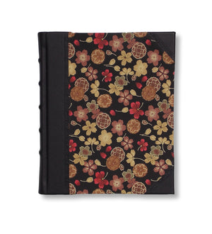 Black and golden flower photo album