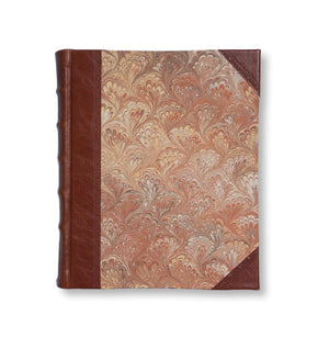 Brown marble photo album