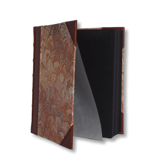 Brown Marble photo album with black pages