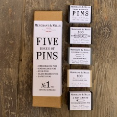 Five Boxes of Pins