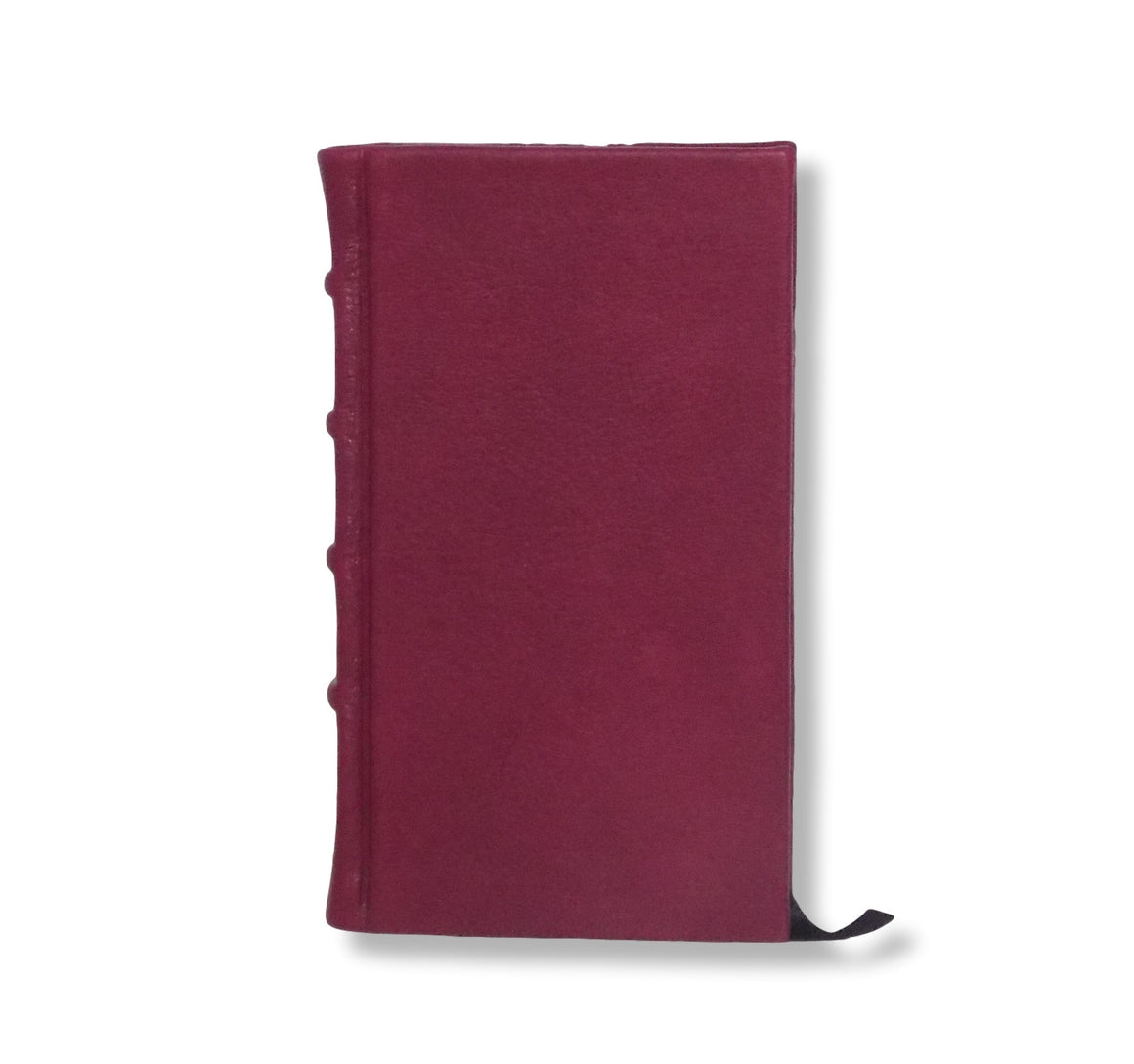 Full Crimson Leather Slimline Journal
