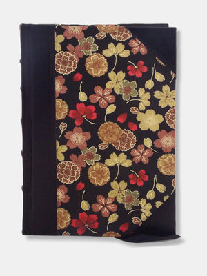 Golden Flower Half Leather Journal