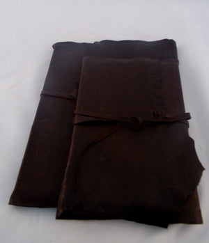 Large and small wrap journals- chocolate