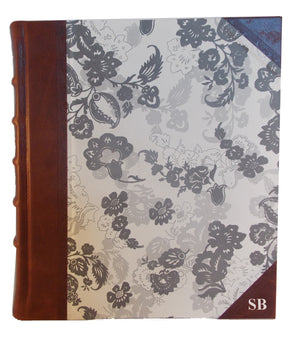 Italian Floral Portrait Leather Album