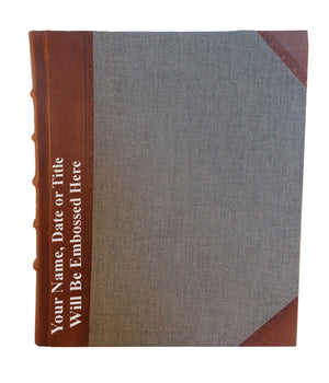 Leather with Bookcloth Portrait Album