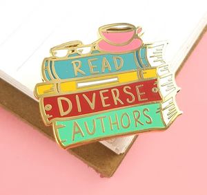 Read Diverse Authors Label Pin