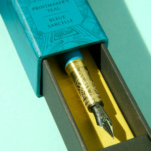 Brush Fountain Pen - Printmaker's Teal