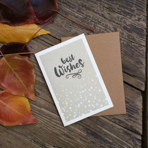 'Best Wishes' Recycled Kraft