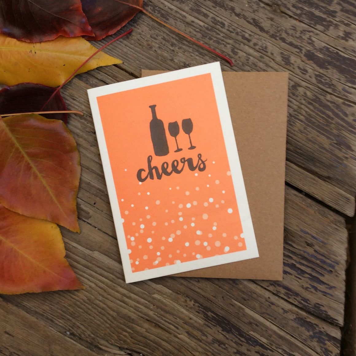 'Cheers' Recycled Kraft