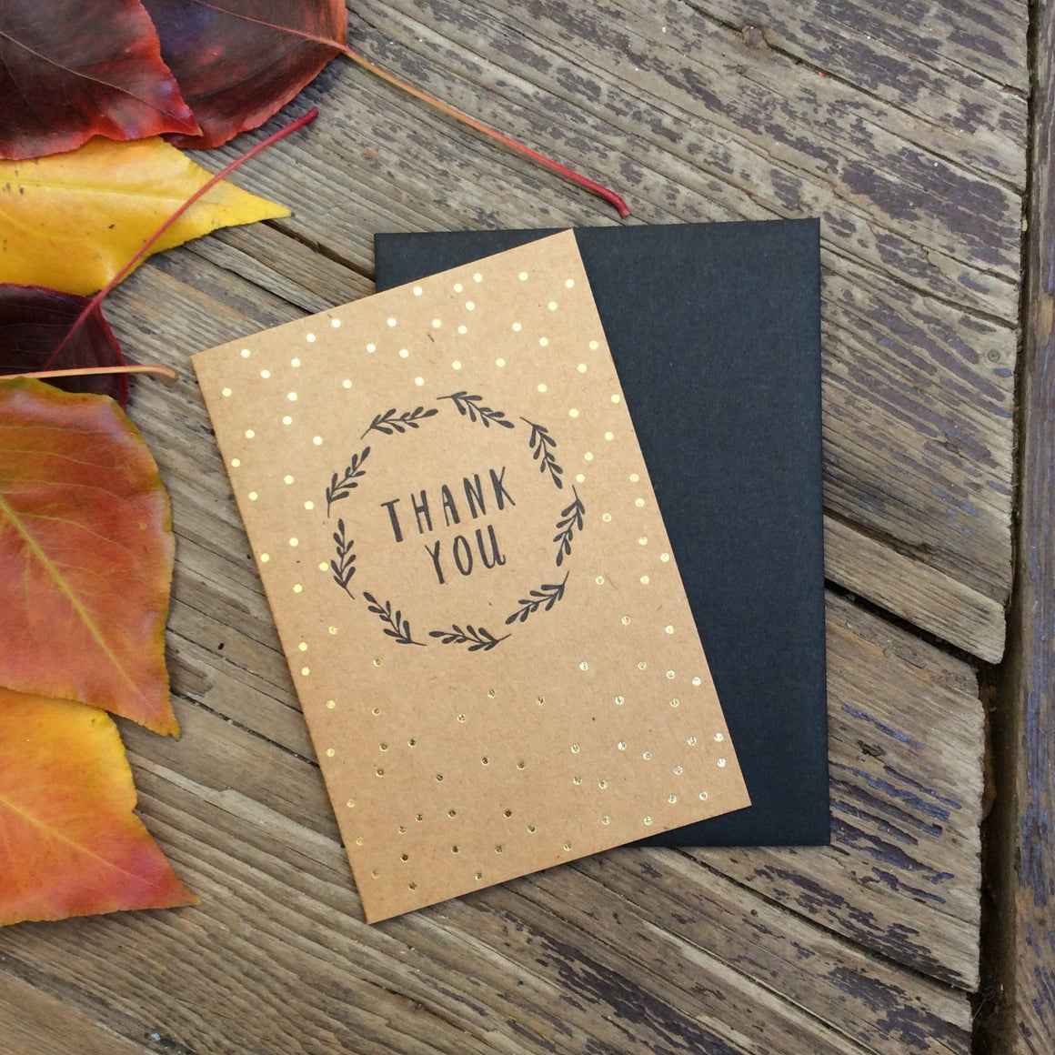 'Thank You' Gold Foil
