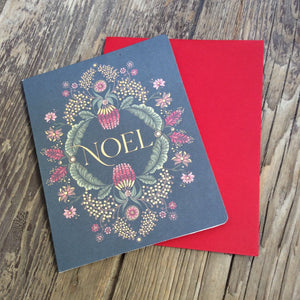 """Noel"" Gold foiled Greeting Card"