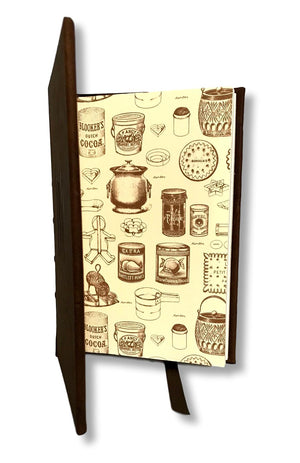 Printed end papers Recipe Book