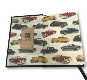 Leather Classic Car Journal | Inside end pages