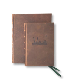 Italian leather gardener's journal large and small sizes