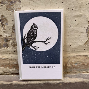 Letterpress Bookplates - Owl