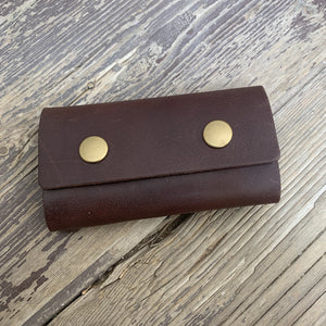 Chestnut Leather Key Wallet