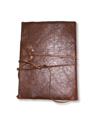 Leather wrap style journal with handmade pages