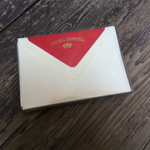 Correspondence card set with red lined envelopes