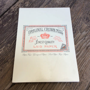 Original Crown Mill writing pad A5