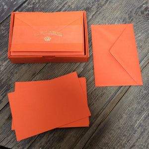 Vellum Range Correspondence Cards Orange