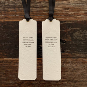 Flywheel Letterpress Printed Bookmark