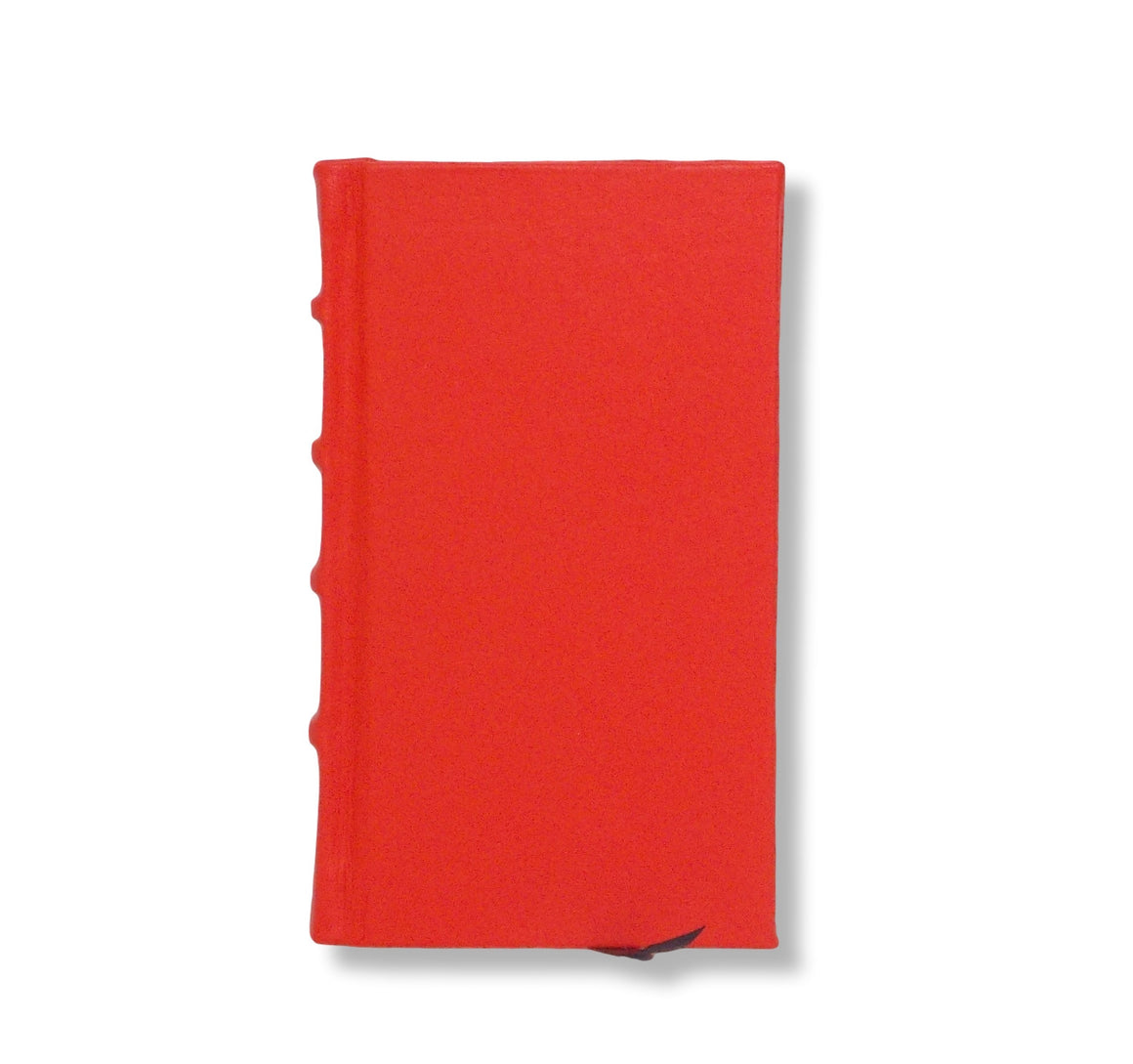 Orange leather Slimline journal