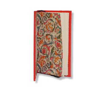 Leather journal with printed Italian endpapers