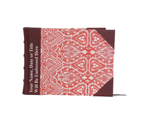 Half Leather Signature Book- Persian Red